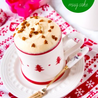 No Bake Gingerbread Mug Cake Recipe by Sweet2EatBaking.com
