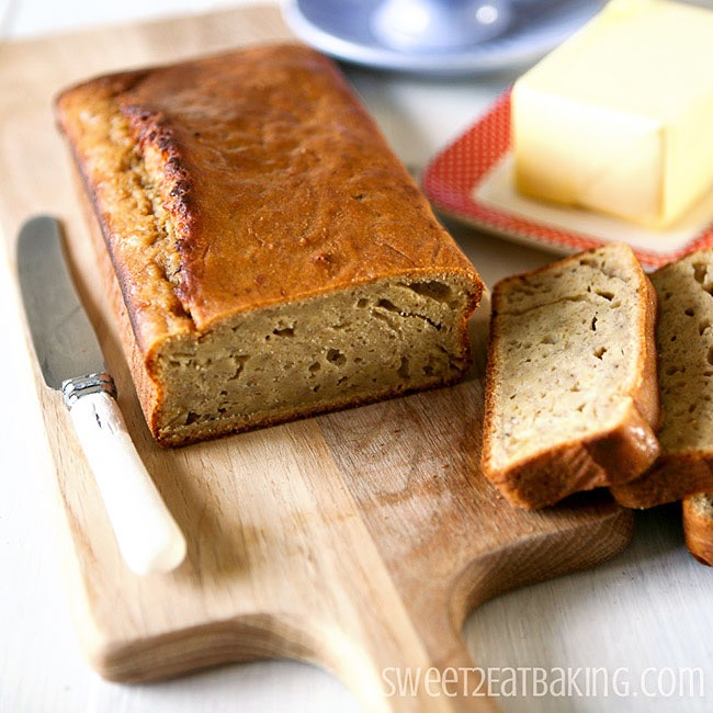 Banana Loaf Recipe by Sweet2EatBaking.com