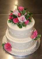Wedding White with Pink