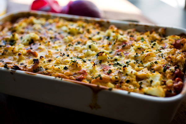 Cauliflower Gratin With Goat Cheese Topping