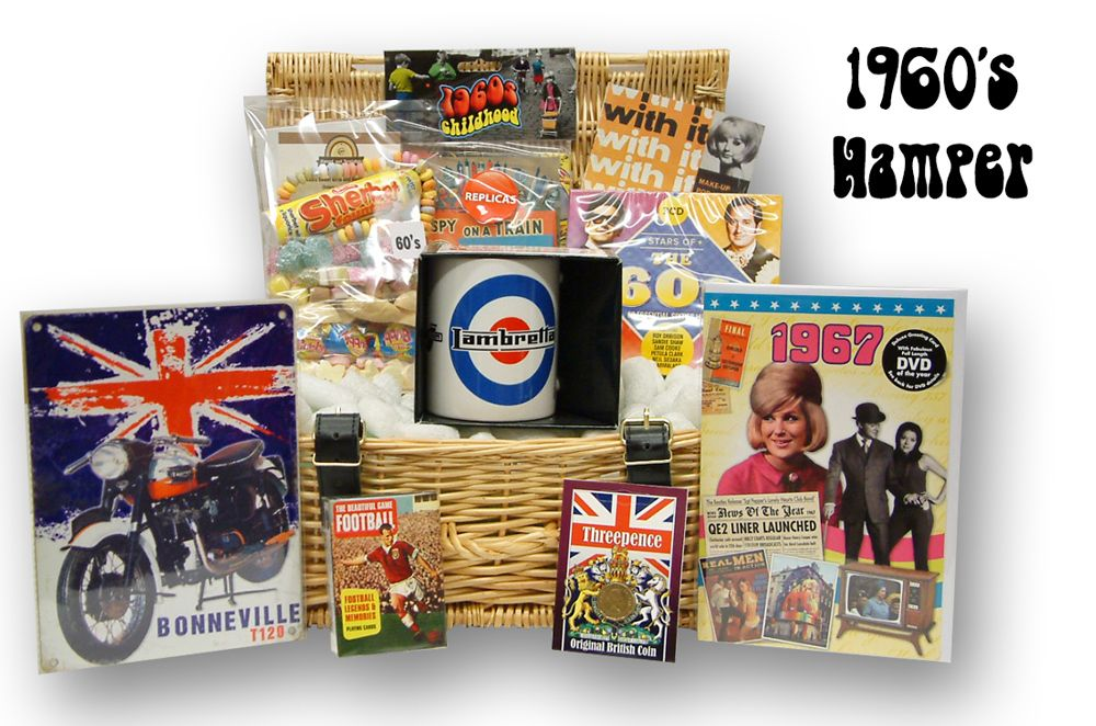 1960s Retro Gift Hamper 50th Birthday Gift Idea