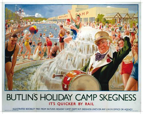 Butlins SKEGNESS Holiday Camp Metal Wall Sign 3 Sizes