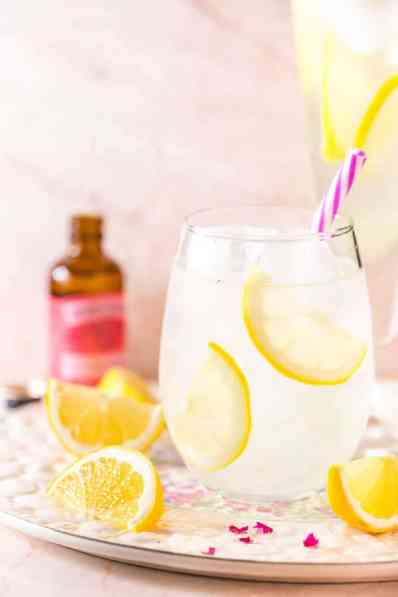 Refreshingly floral, this rose lemonade is so easy to make and perfect pitcher drink for all your outdoor activities this summer.