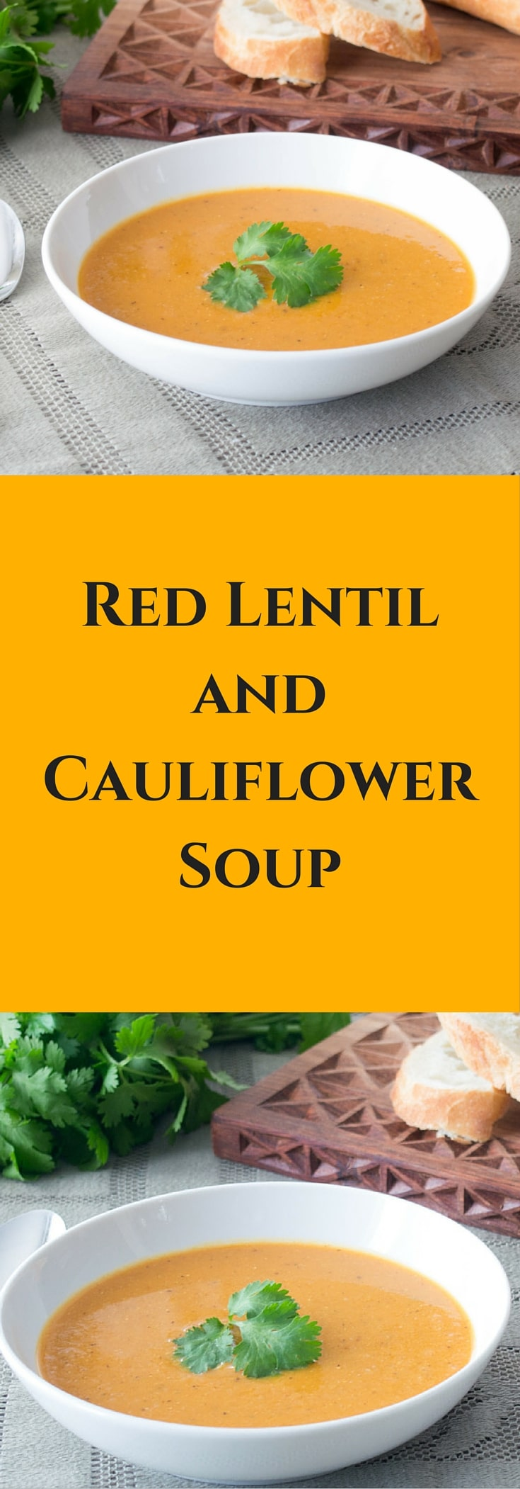 This recipe for curried Red Lentil and Cauliflower Soup is easy, healthy, flavourful, and perfect for warming you up on a cold day.