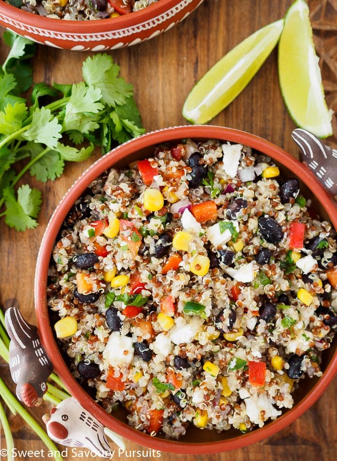 Southwestern Quinoa Salad in bowl.