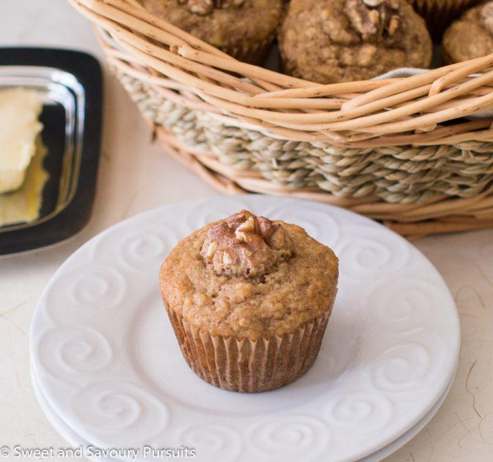 Banana Maple Walnut Muffins