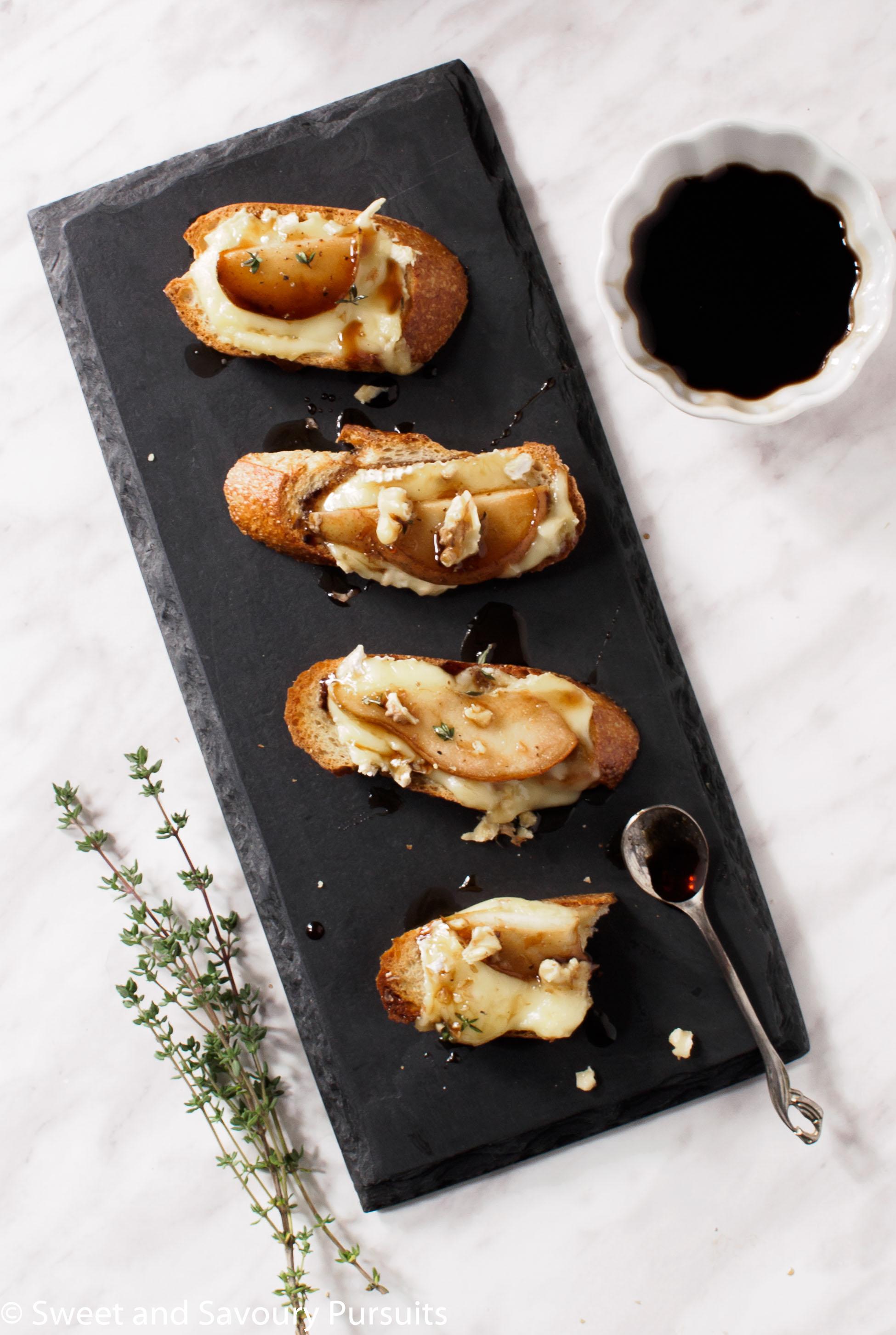 Pear and Brie Crostini