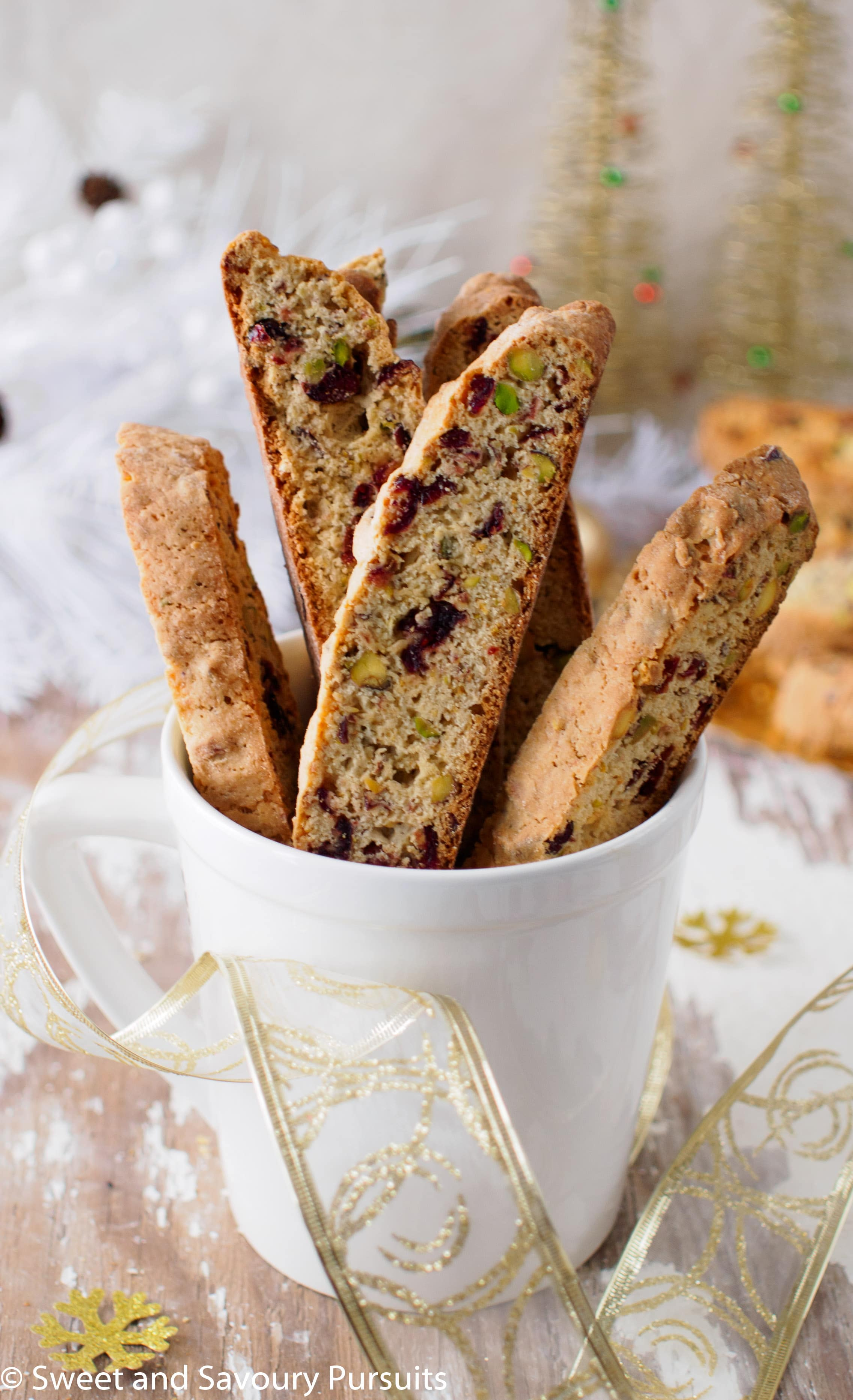 If you are going to make biscotti for the holiday season, then let this Pistachio and Cranberry Biscotti be the one! It's the perfect holiday biscotti!