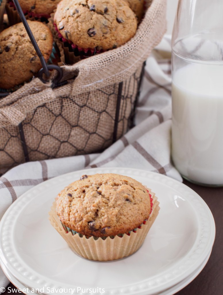 Browned Butter Chocolate Chip Muffins