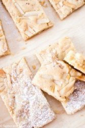 Chewy Almond Marzipan Bars on board.