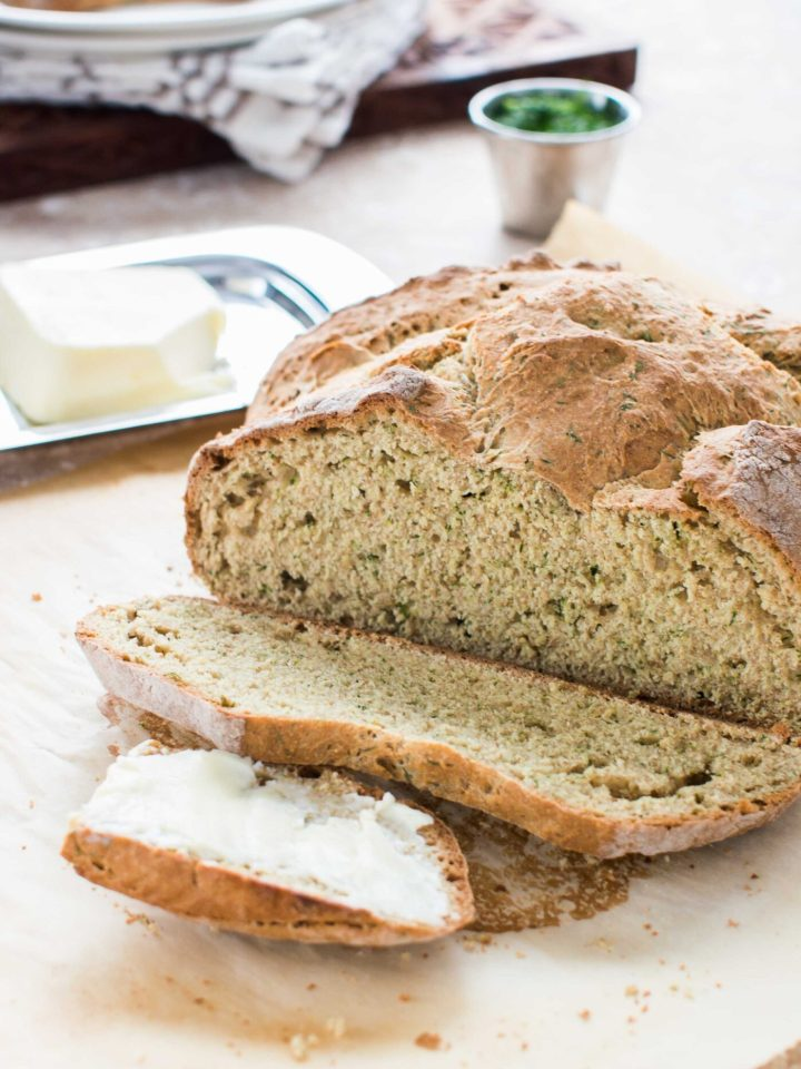 Sliced Irish Soda Bread with Dill