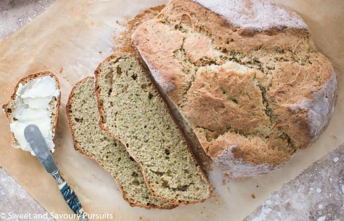 Top view of sliced Irish Soda Bread.