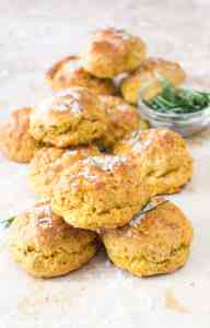 Sweet Potato, Parmesan and Rosemary Biscuits