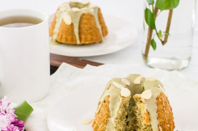 Mini Almond and Matcha Bundt Cakes