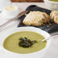 Cauliflower, Kale and Leek Soup