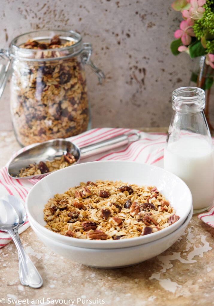 Homemade Maple Pecan Granola with Dates