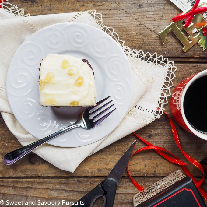Classic Gingerbread Cake with Lemony Cream Cheese Frosting