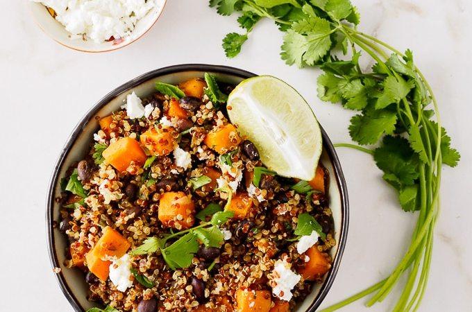Sweet Potato Black Bean Quinoa