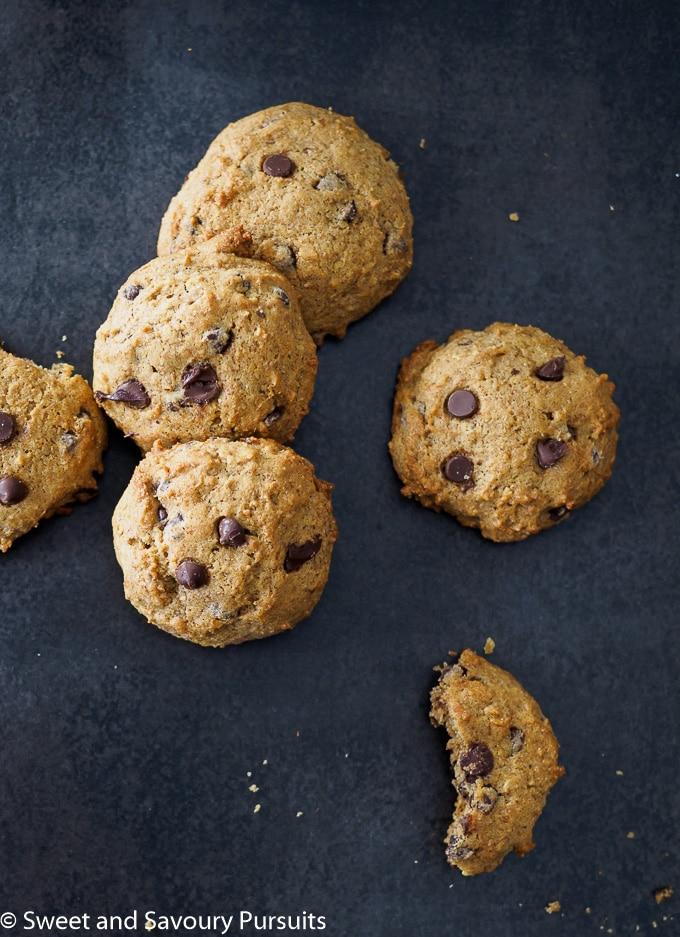 Chocolate chip cookies made with chickpeas on board.