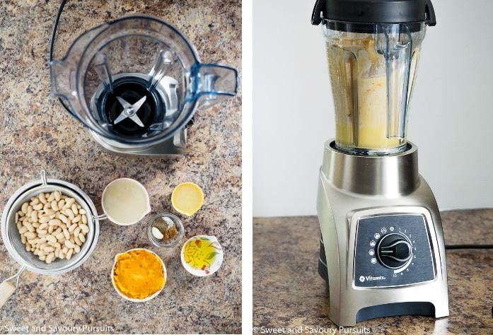 Butternut Squash and White Bean Dip Vitamix Collage
