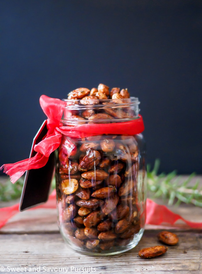These delicious Rosemary Spiced Roasted Almonds are sweet and savoury, full of flavour and crunch. They are also quick and simple to make.