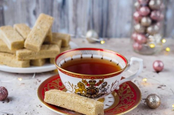 Espresso Cardamom Shortbread Cookies