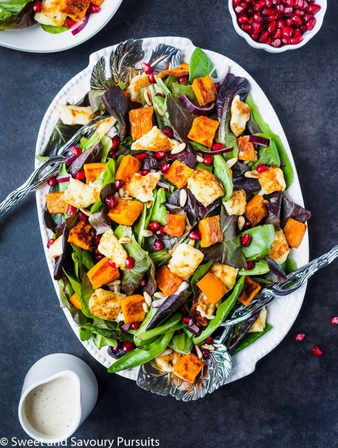 Roasted Sweet Potato Salad with Citrus Tahini Dressing