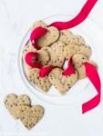 Healthier heart-shaped sugar cookies