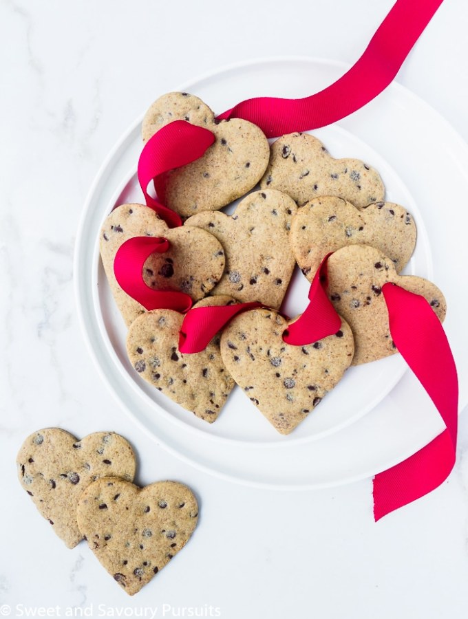 Healthier heart-shaped sugar cookies