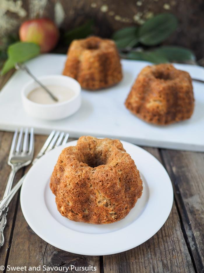 Mini Apple Spice Bundt Cakes