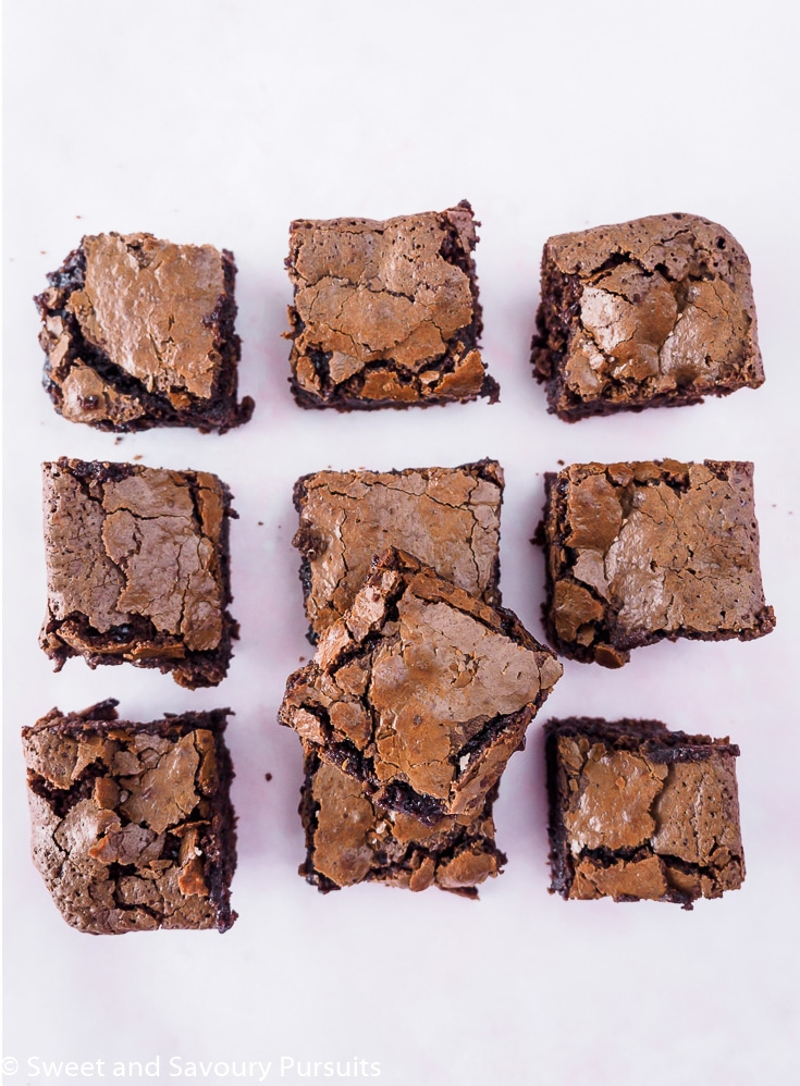 Gluten-Free Almond Flour Brownies on board.