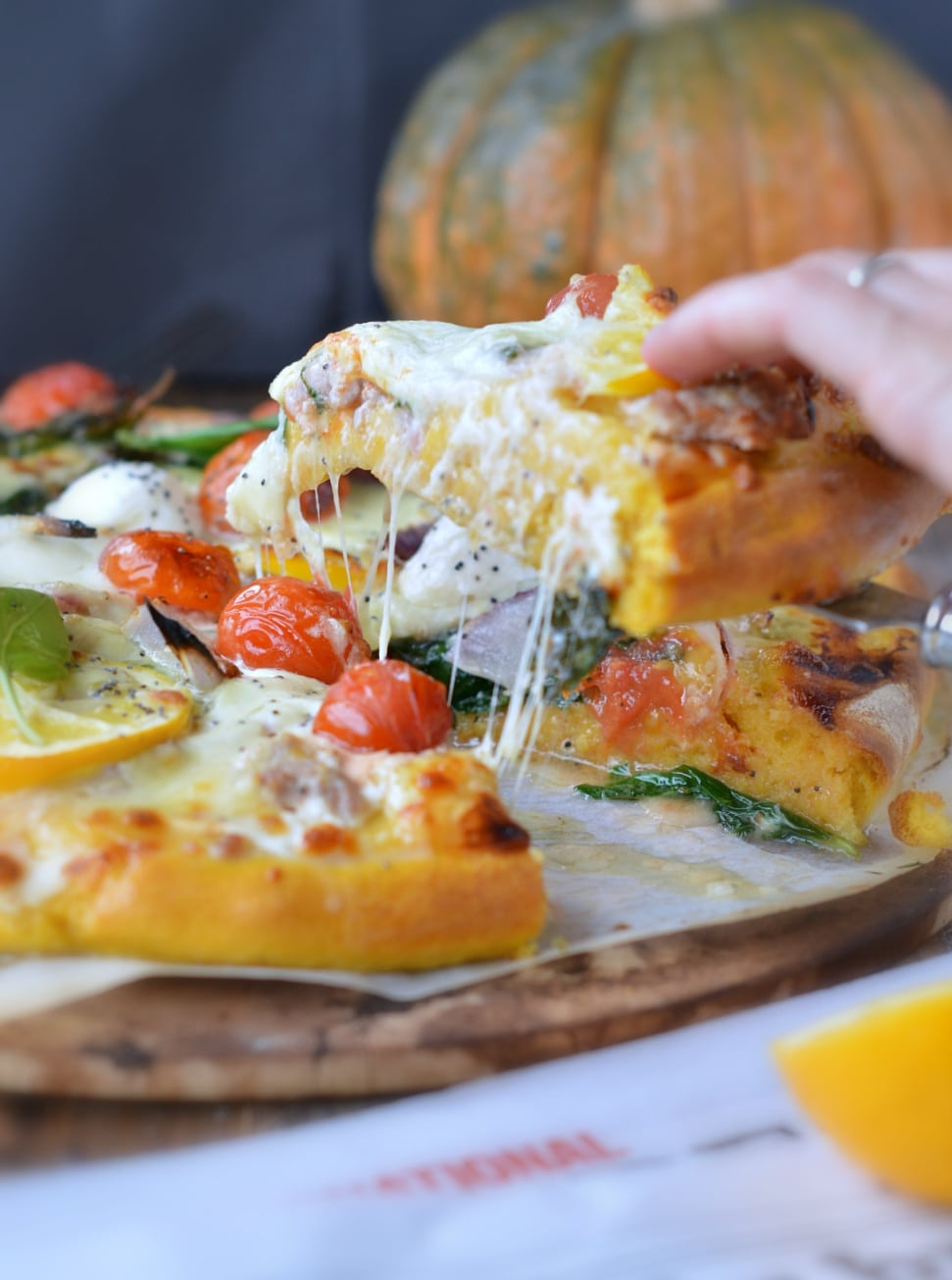 CHESSY PUMPKIN PIZZA