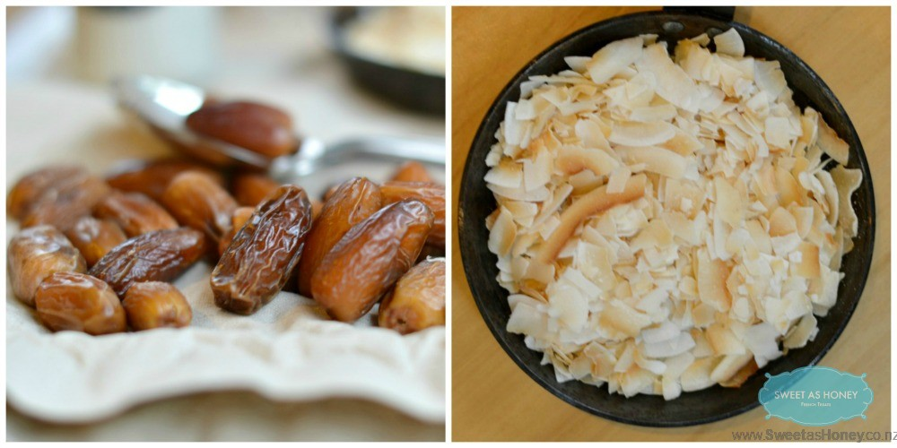 deglor dates coconut flakes