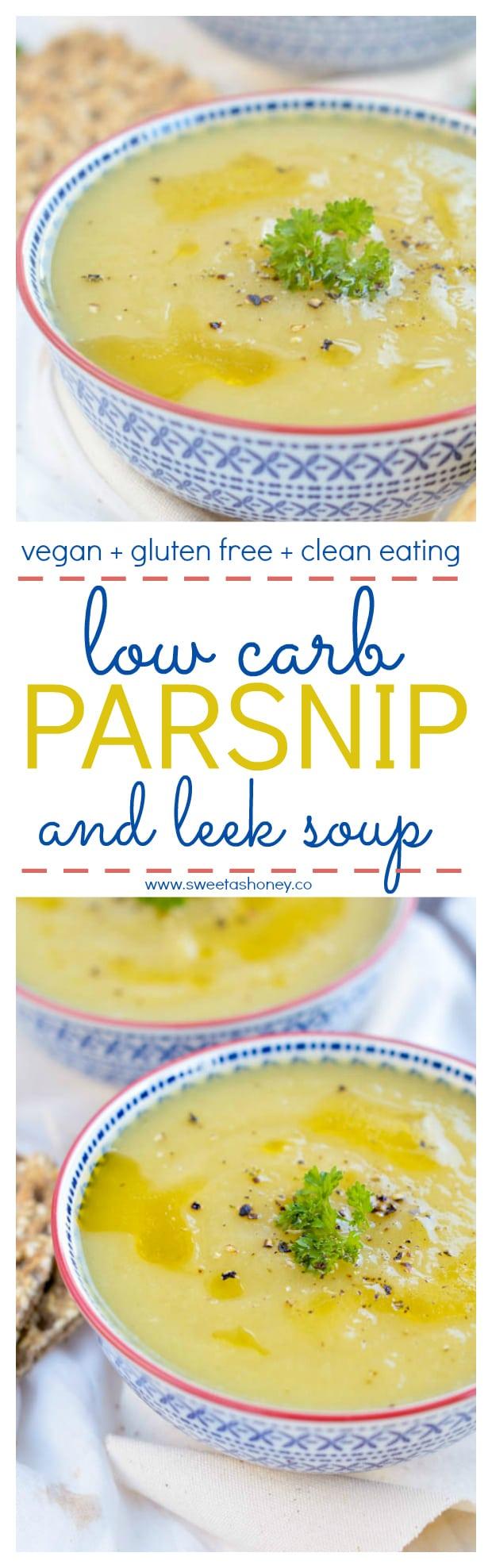 Low Carb Leek Parsnip Soup