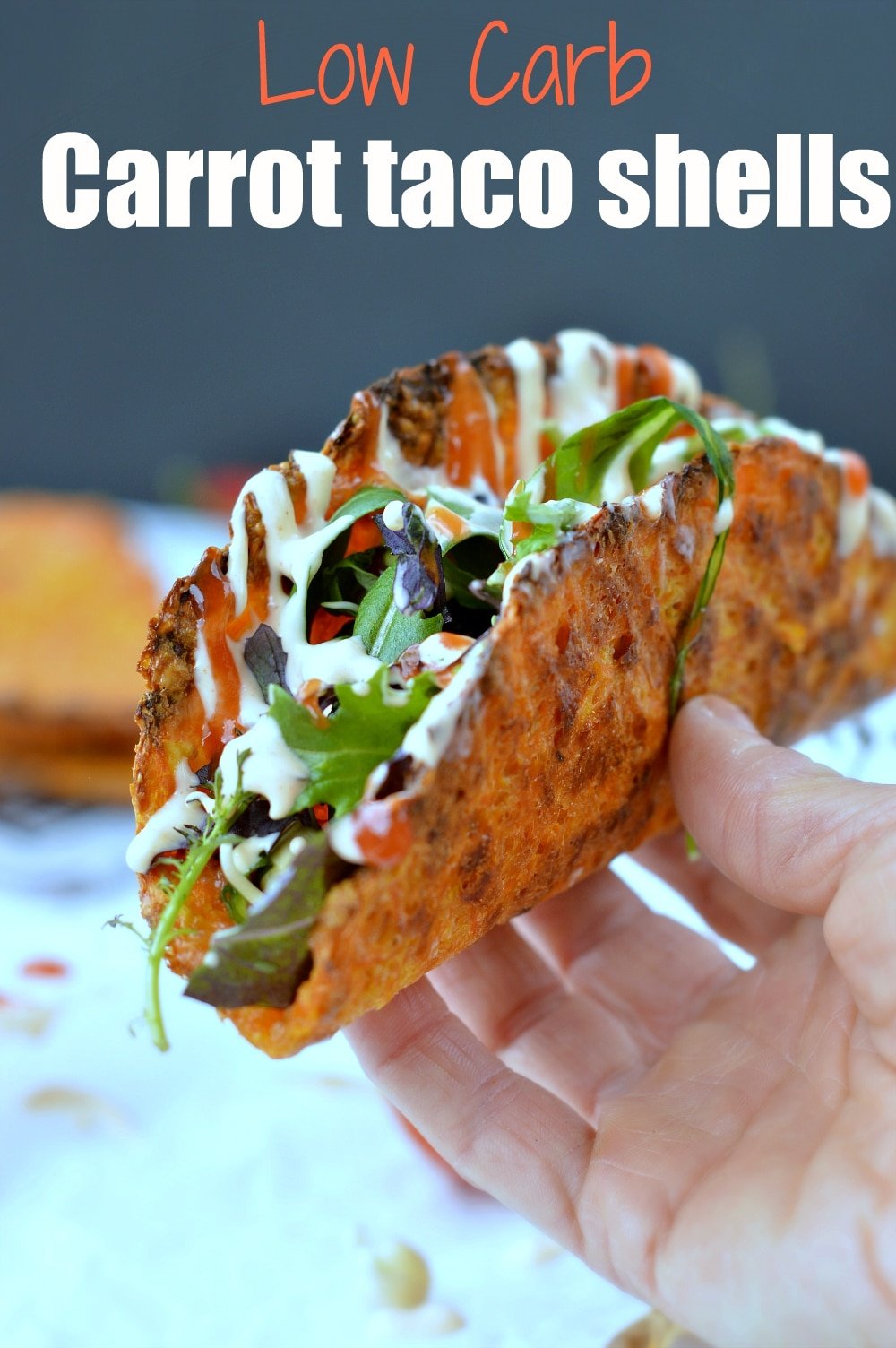 low carb carrot taco shells