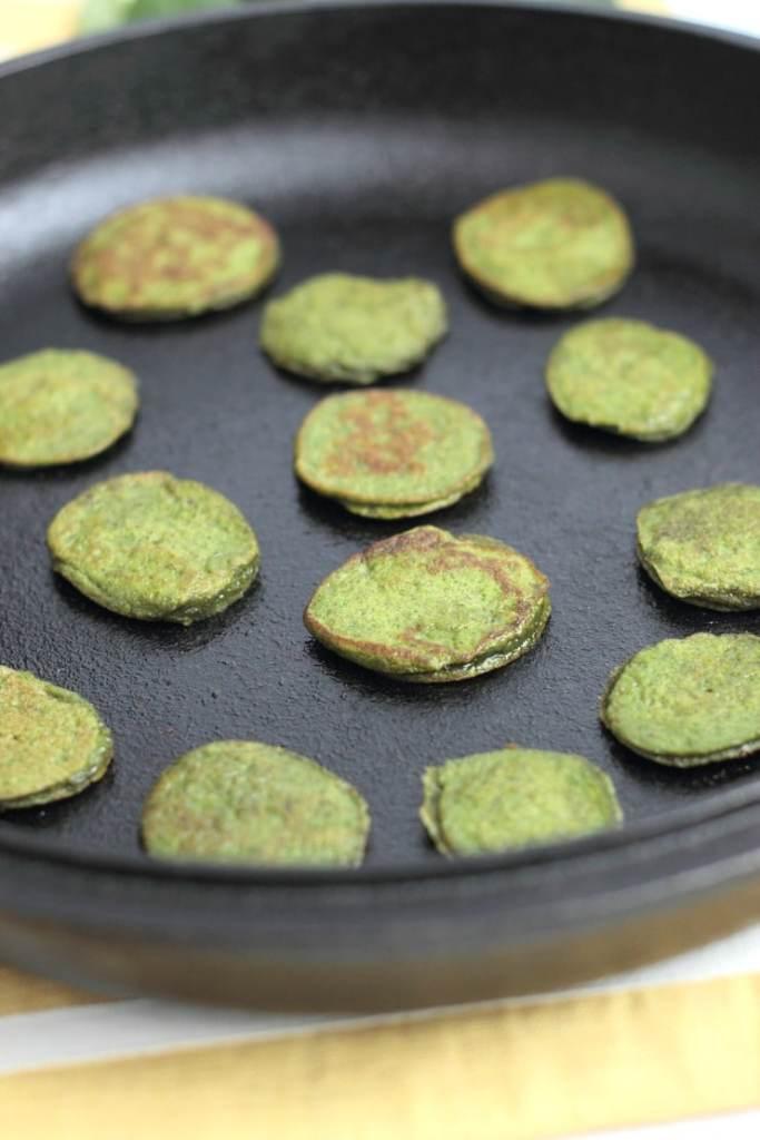 Cinnamon Spinach flapjacks