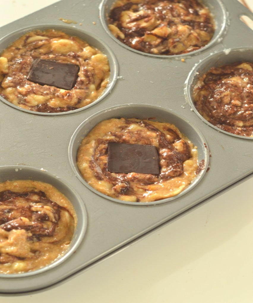 healthy swirl chocolate muffins