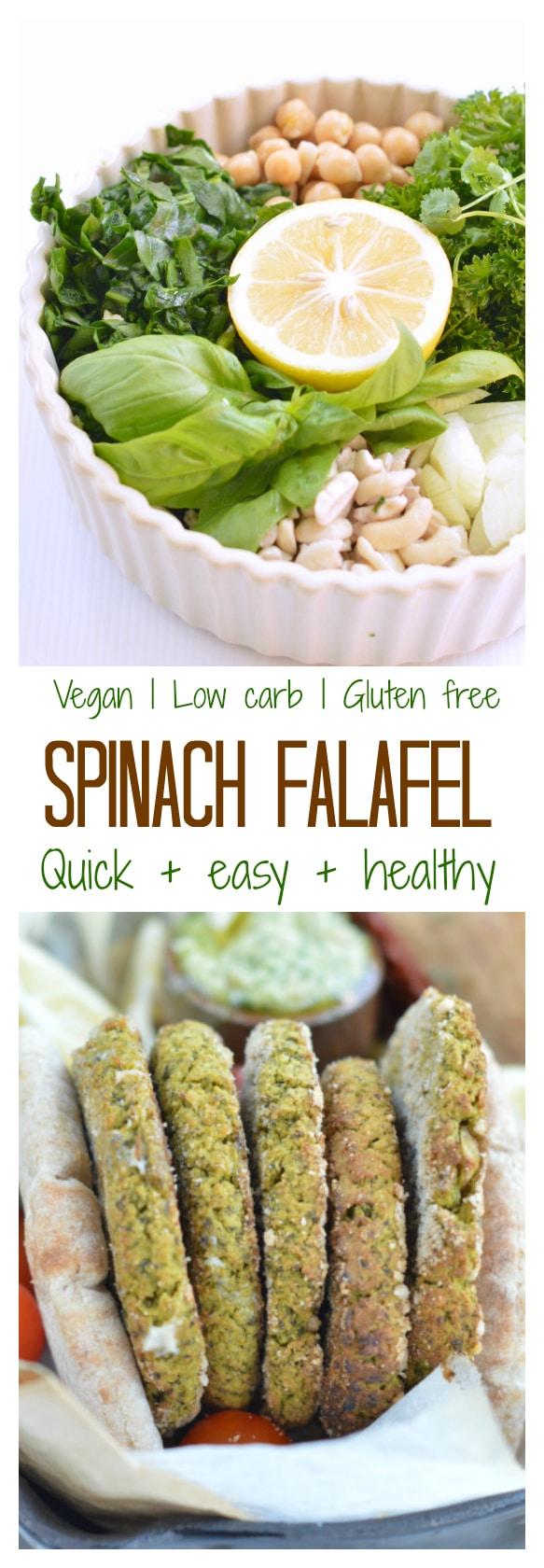 spinach falafel easy baked falafel