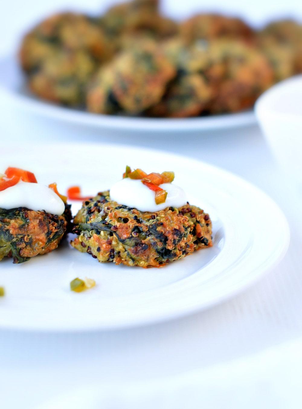 Spinach Quinoa Vegetarian Patties