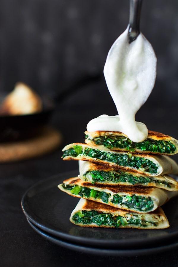 Spinach Quesadillas
