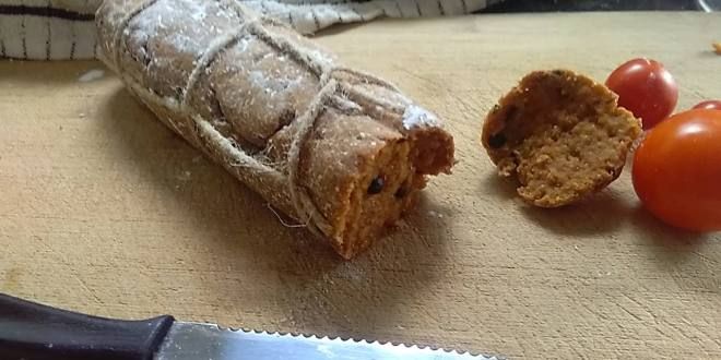 Vegan salame (or salami!) recipe and thoughts about faking meat and hiding cruelty