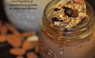 Σοκολατένιο μούσλι με γάλα αμυγδάλου-spoon