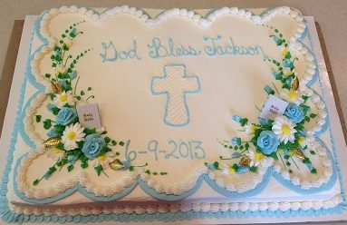 religious cake for confirmation, baptism, first communion