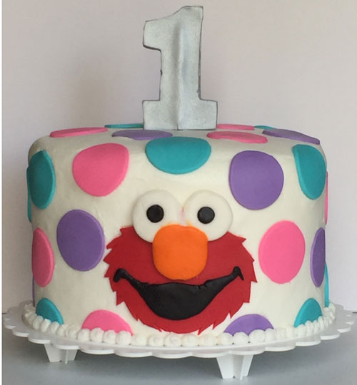 Stupendous First Birthday Elmo Cake Sweet Creations By Stacy Llc Funny Birthday Cards Online Alyptdamsfinfo
