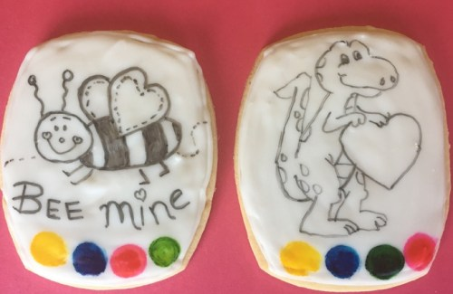 Paint-it-Yourself Valentine Cookies