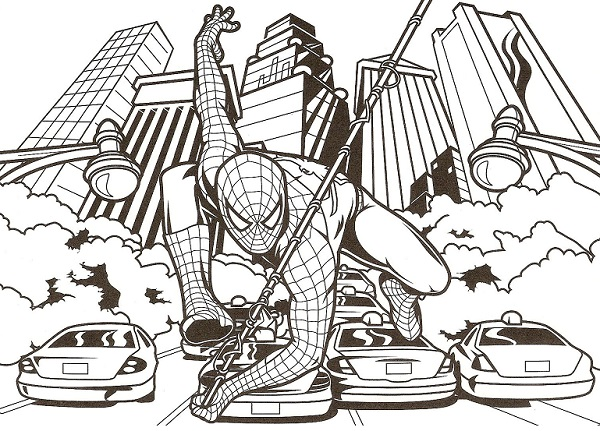Coloriage Gratuit A Imprimer New York.Coloriage Spiderman New York Free Coloring Pages Globalchin Coloring