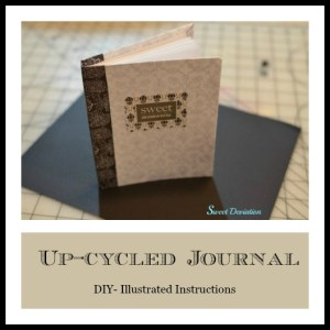 Up-cycled journal instructions