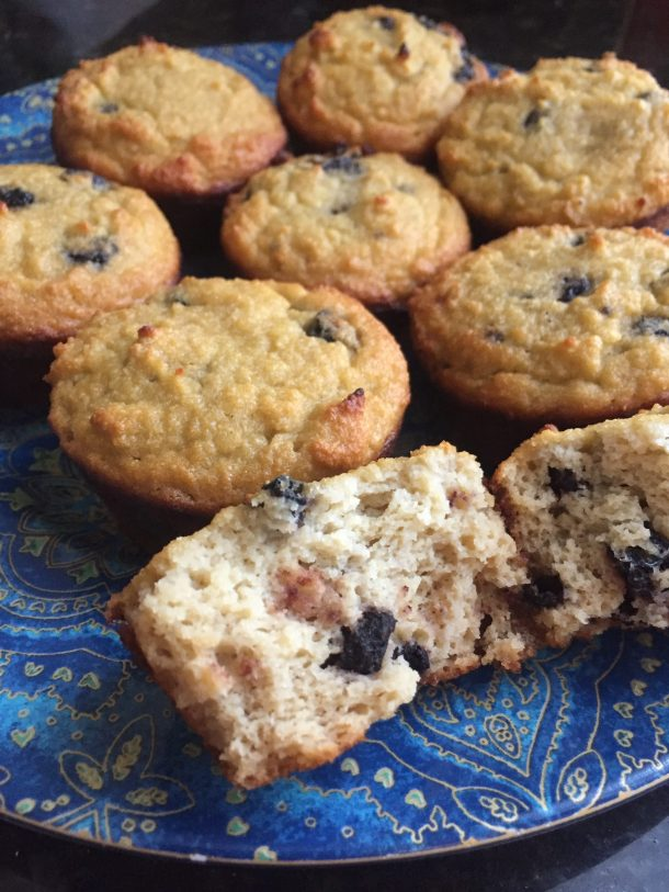 nut free paleo blueberry muffins
