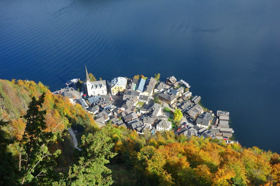 Bird's-eye-view of Hallstatt