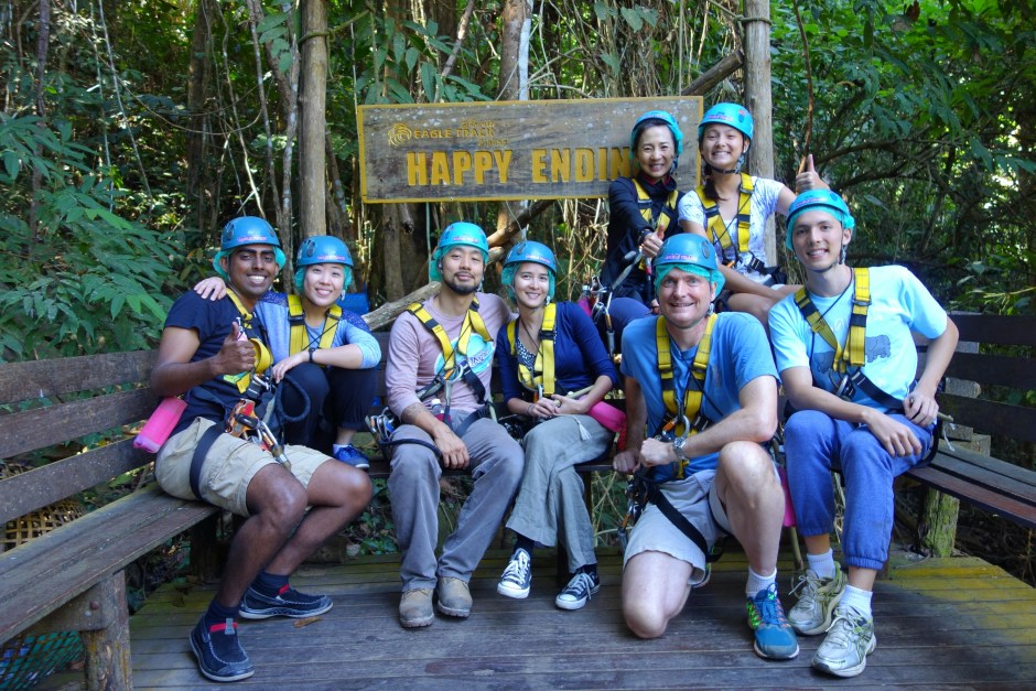 Our nice ziplining group